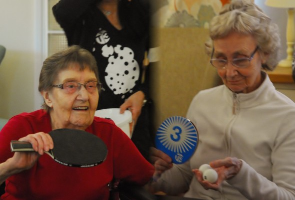 The T3 Ping Pong Academy at a care home